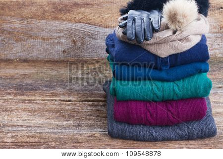 set of woolen clothes