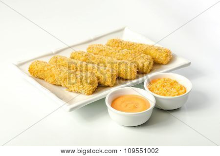 Fried Mozzarella With Sauce