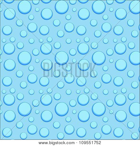 Circle And Liquid, Light Design, Clear Soapy Shiny, Vector Illustration. Bubbles In Water On Blue Ba
