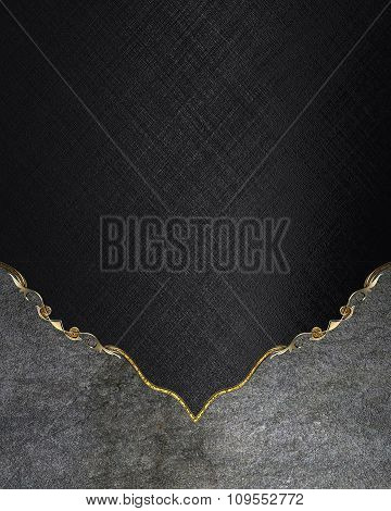The Nameplate Of Cement On Black Background. Element For Design. Template For Design. Copy Space For