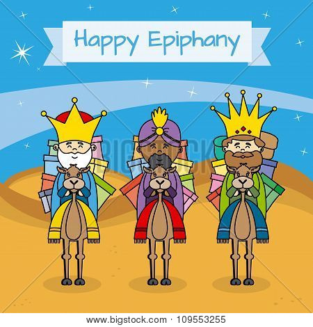 Happy Epiphany card