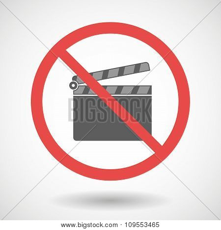 Forbidden Vector Signal With A Clapperboard