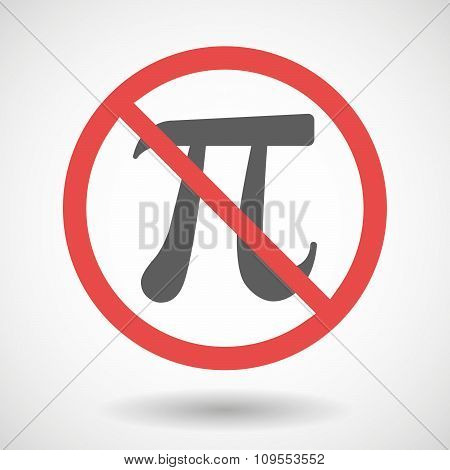 Forbidden Vector Signal With The Number Pi Symbol