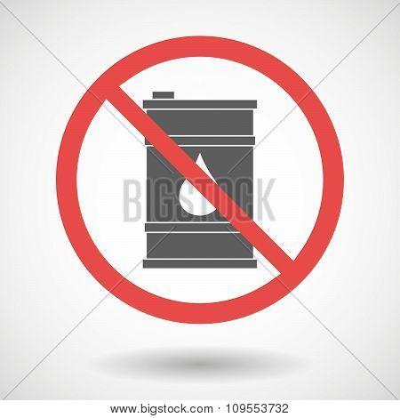 Forbidden Vector Signal With A Barrel Of Oil
