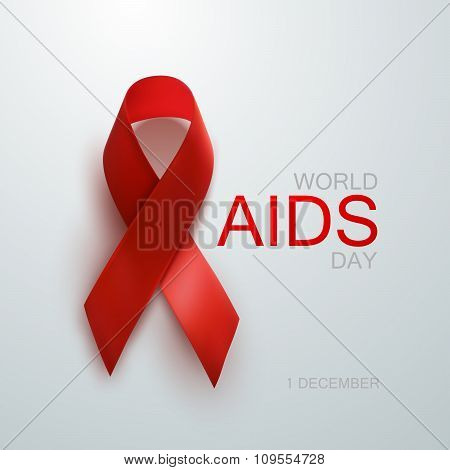 Aids Awareness Red Ribbon.