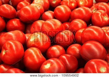 Red Tomatoes High Contrast Background