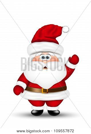 Santa claus on white background.