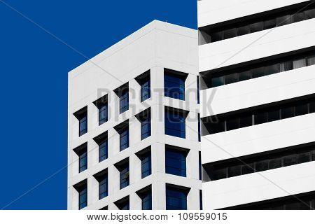 Abstract Minimal Style Architecture. Modern Building Facade Detail