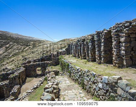 Inca Ruins Of Isla Del Sol, Bolivia