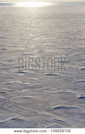 The surface of the Gulf of Finland covered with ice