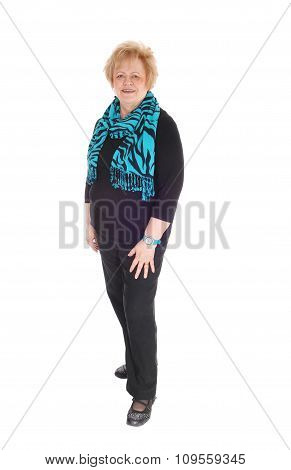 Full Length Image Of Older Woman.