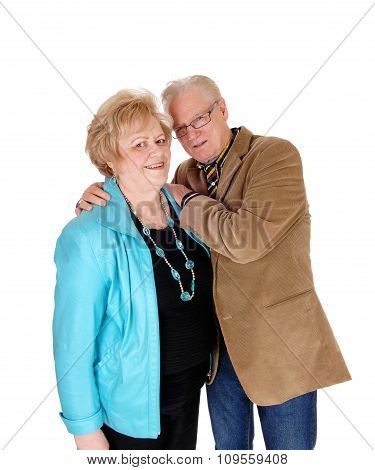 Older Man Hugging His Wife.