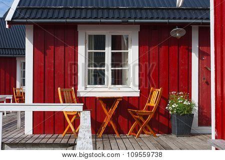Wooden House At The Lofoten Archipelago