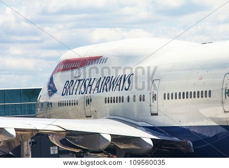 Boeing 747-400 In Heathrow Airport