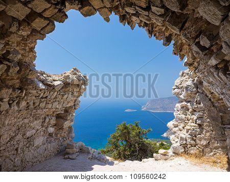 Monolithos Castle Ruins