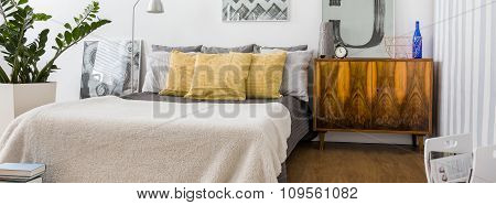 Bedroom With Original Decorations