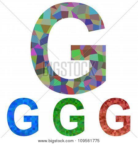Mosaic font design - letter G