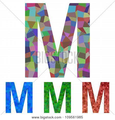 Mosaic font design - letter M