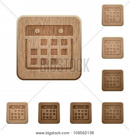 Hanging Calendar Wooden Buttons