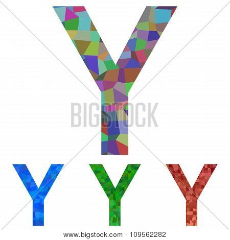 Mosaic font design - letter Y
