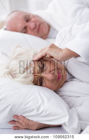 Snoring Husband And His Wife