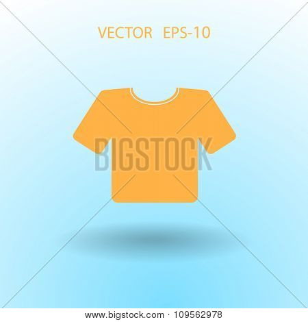 Flat a T-Shirt icon. Vector