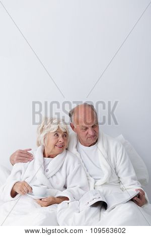 Elderly Man And Woman Love