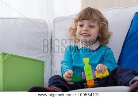 Little Boy And Toy