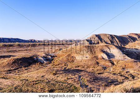 Landscape Of The Badlands In Dinosaur Provincial Park