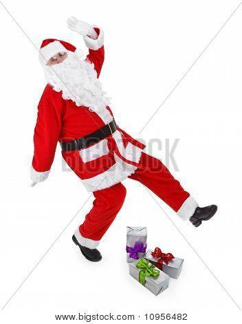 Santa Claus Makes Funny Pose