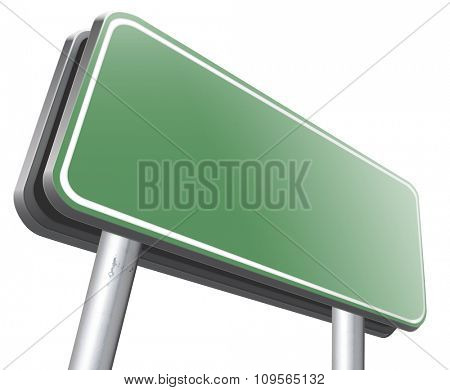 blank road sign billboard with copy space empty signpost with room for text
