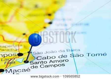 Santo Amoro de Campos pinned on a map of Brazil