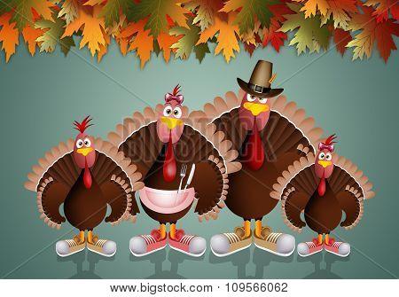 Turkey's Family
