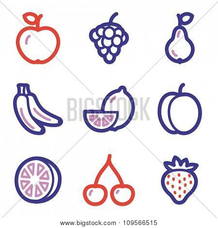 Fruits web icons