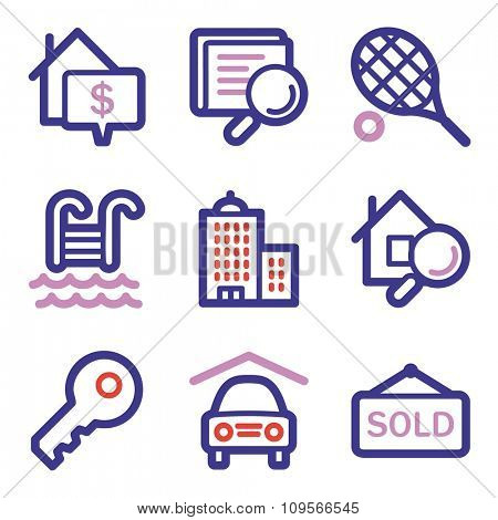 Real estate web icons