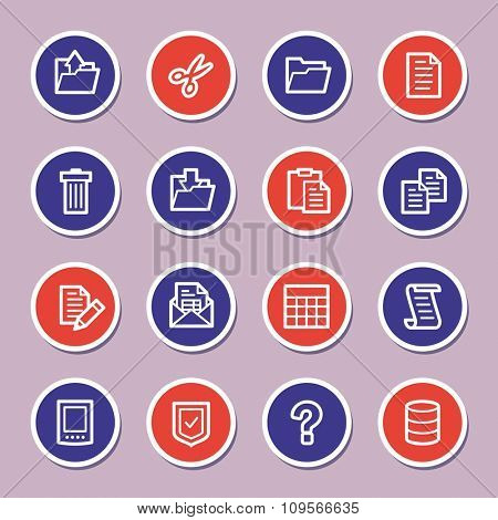 Document web icons set