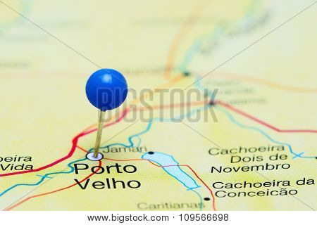 Porto Velho pinned on a map of Brazil