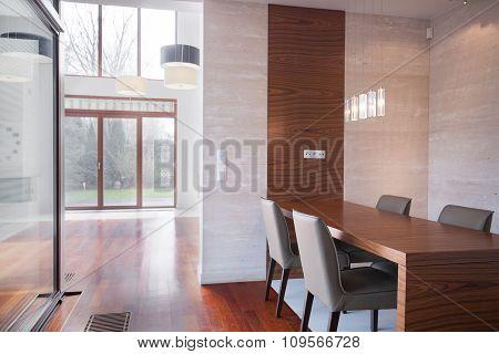 Minimalistic Modern Dining Room