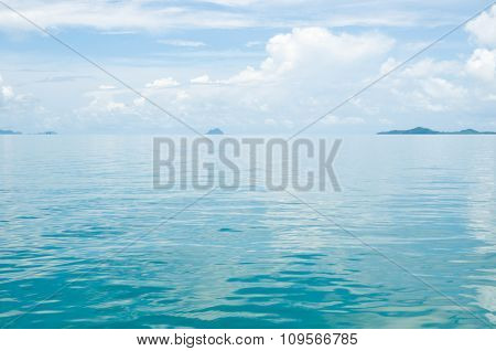 Smooth Surface Of Water Phang Nga Bay Near Krabi And Phuket