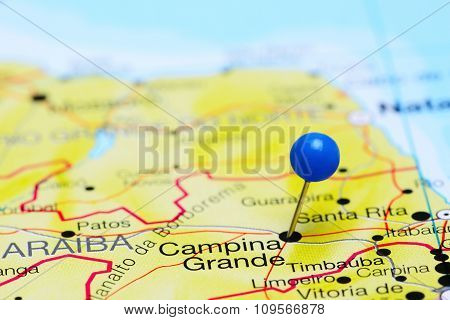Campina Grande pinned on a map of Brazil