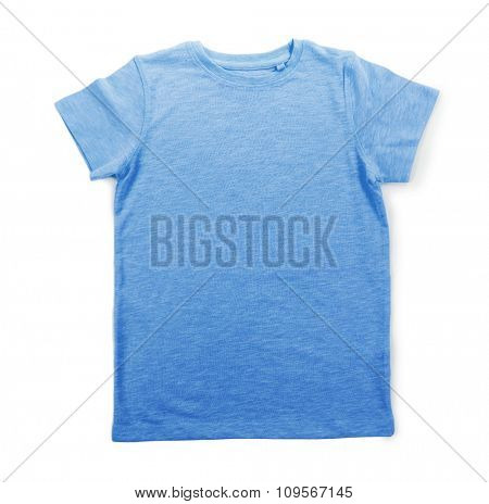 cotton T-shirt isolated on white background