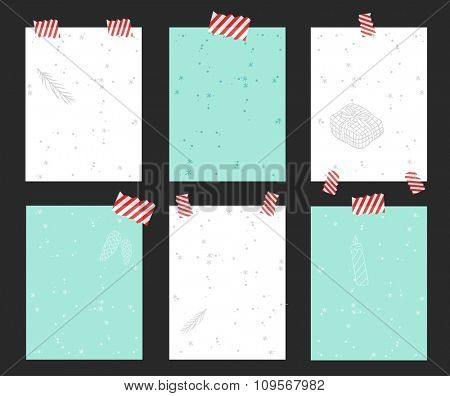 Christmas greeting card vector banner isolated. Christmas Holidays winter banner. Hand draw New Year greeting card banner. Christmas banners. Christmas holiday poster. New Year banner template icons