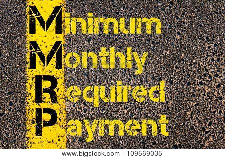 Business Acronym Mmrp As Minimum Monthly Required Payment