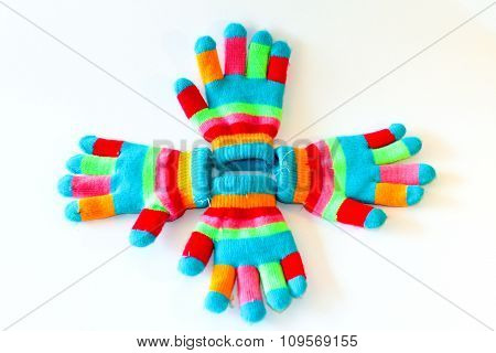 colorful glove frabic