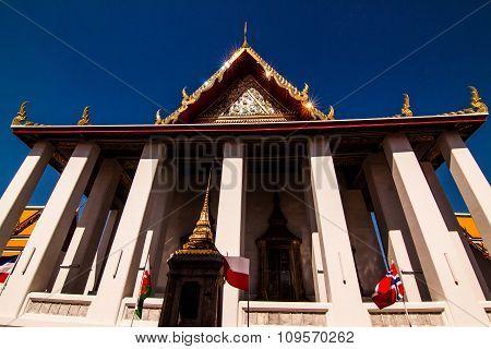 Church Of Thailand Temple In Bule Sky