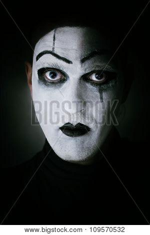 Dark Portrait Mime Actor