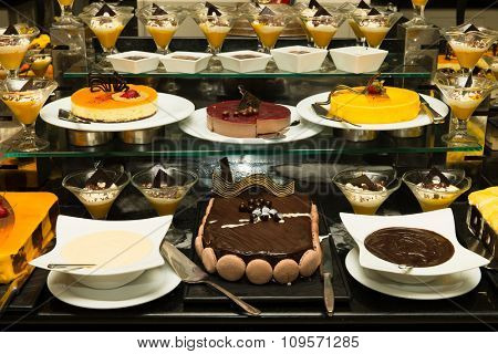 A variety of cakes