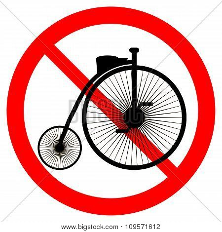 No Bike Sign.