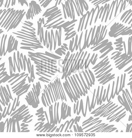 Seamless pattern with hand drawn pen or pencil lines. Abstract background texture