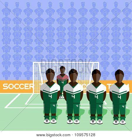 Nigeria Soccer Club On A Stadium